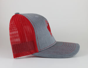 Red and Gray Trucker