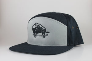 Navy and Grey 7 Panel