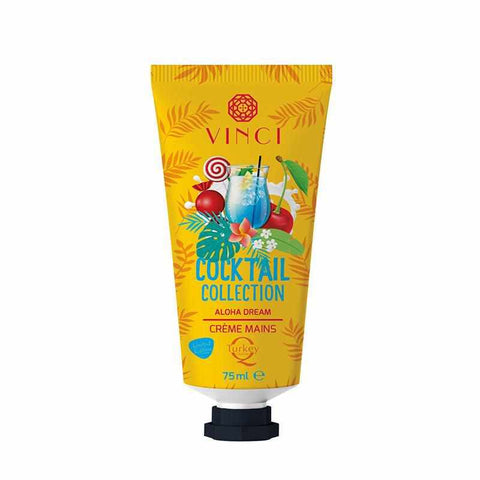Cocktail collection  crème à main aloha dream - 75ml - Vinci Cosmétique