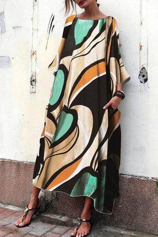 Arealook Baggy And Fashionable Print Maxi Dress