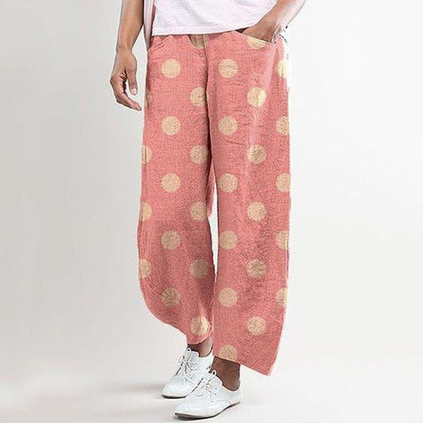 Women's Casual Loose Polka-Dot Trousers