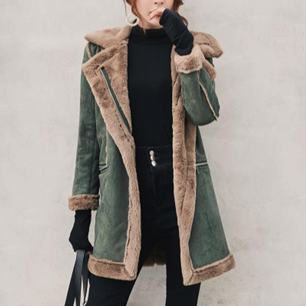 Winter Suede Lamb Thick Cotton Coat