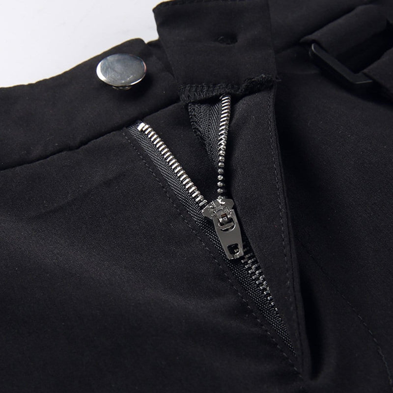 Fashion Zipper Sling Casual Pants
