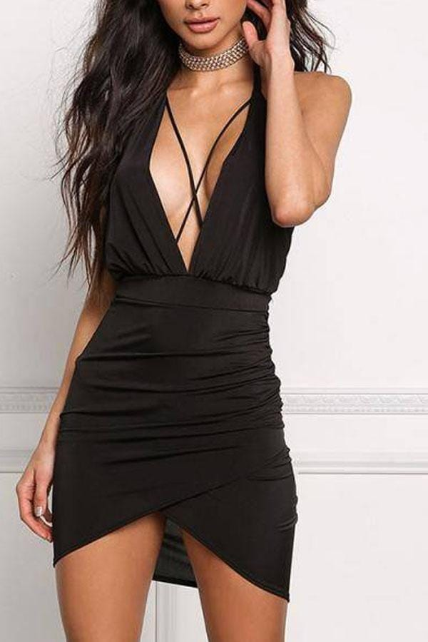 Halter  Backless Bodycon Dresses