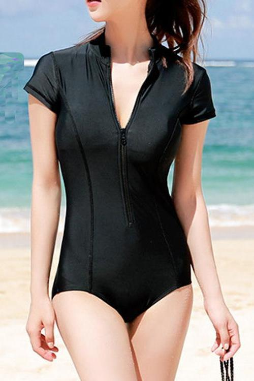 Short Sleeved Swimsuit