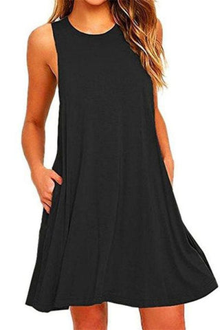 Sexy Women Loose Casual Summer Mini Dress Vest Shift Dress