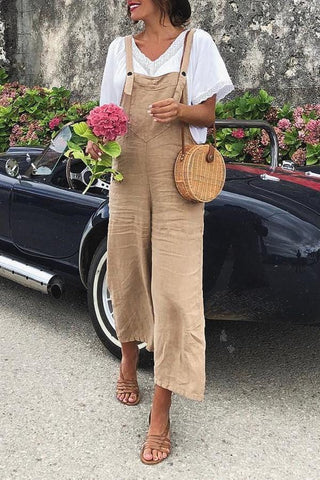 Fashion Women Loose Wide Leg Jumpsuit for Summer