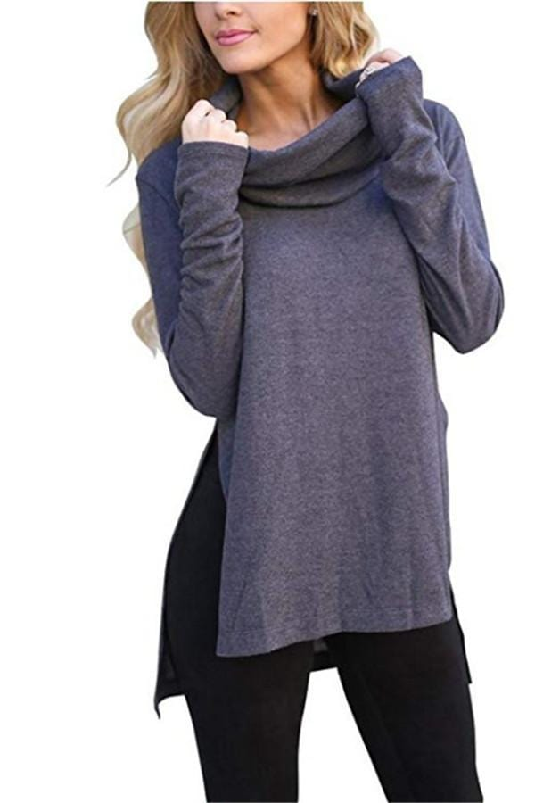 High-Collared Long-Sleeved Shirt