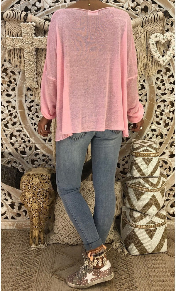 Autumn Loose Pure Color Slant Shoulder Long Sleeve T-Shirt