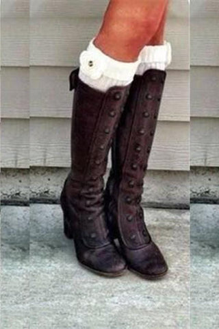 Retro High Heels And Knee Boots