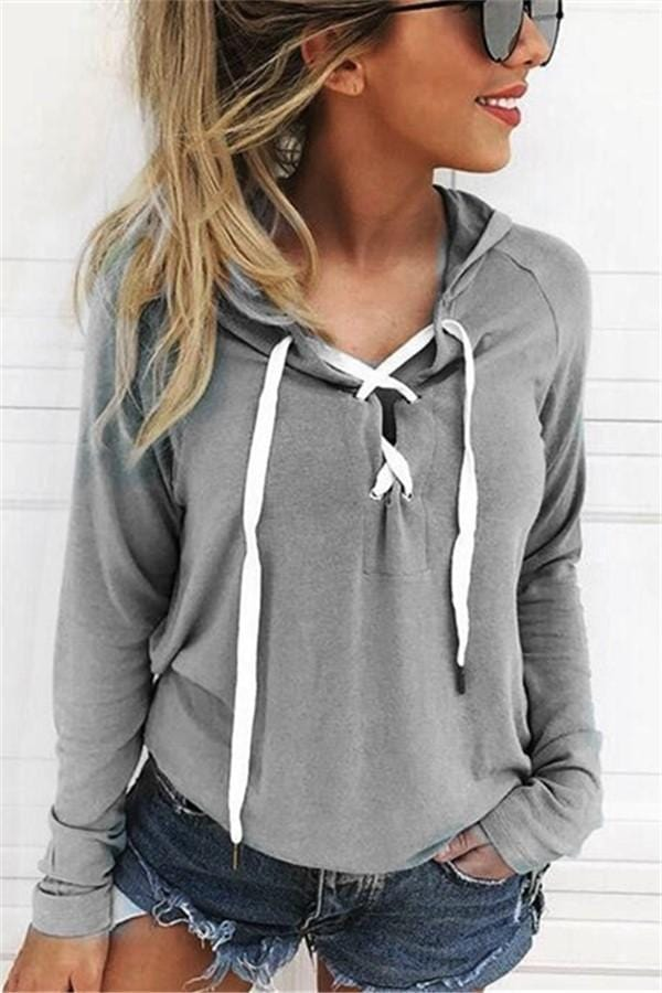 Sexy Long Sleeve Tie With Open Boobs And Hooded Hoodies