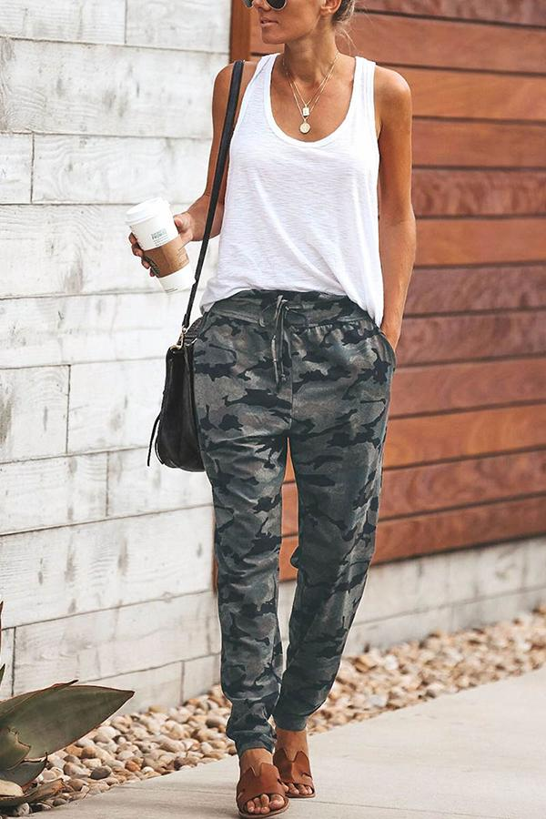 Arealook Fashion Camouflage Slim Casual Pants