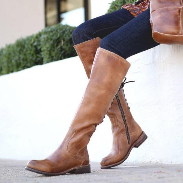 Fashion & Comfortable Women Low Heel Long Boots