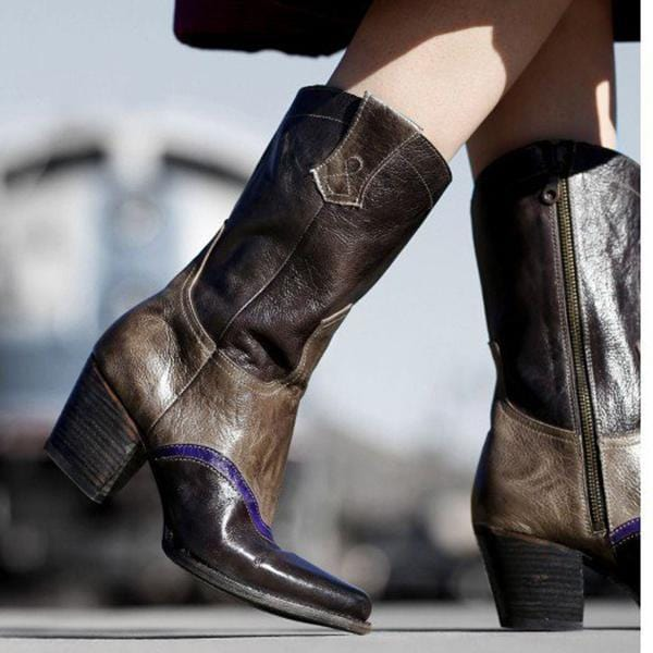 Stylish High Heel Women Leather Boots
