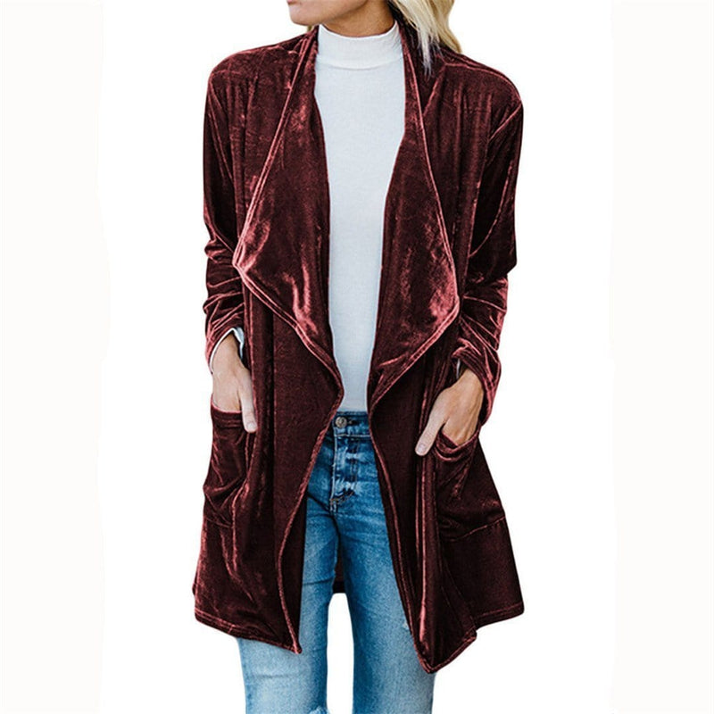 Autumn And Winter Velvet Jacket Coat