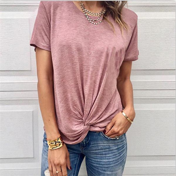 AREALOOK Fashion Short Sleeve Irregular T Shirt