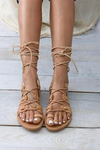 Roman Style Cross Straps Hollow Sandals