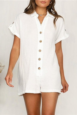 Fashion And Leisure Cotton And Linen Romper