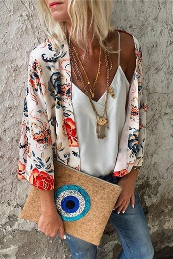 Fashion Ethnic Style Cardigan Shawl