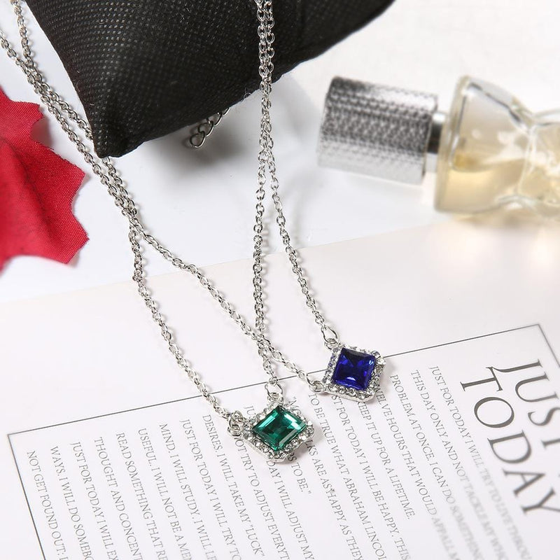 Fashion Personality Diamond Chain Multi-Layer Necklace Party Accessories