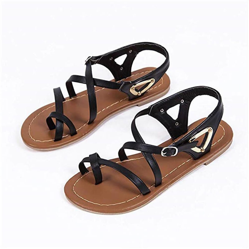 Fashion Casual Solid Color Flat   Sandals