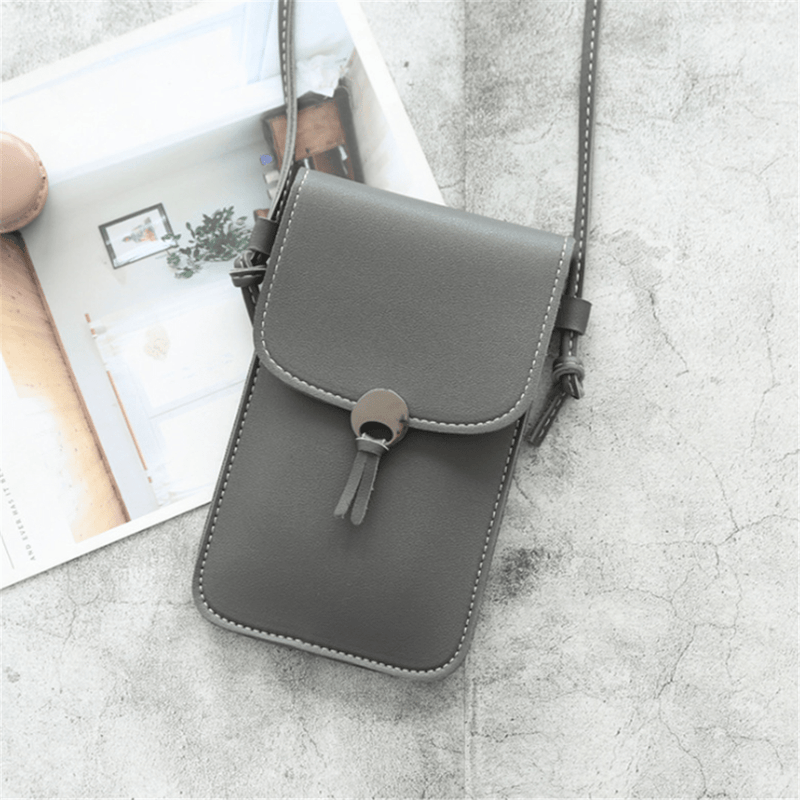 Women's Simple Transparent Touch Screen Phone   Bag