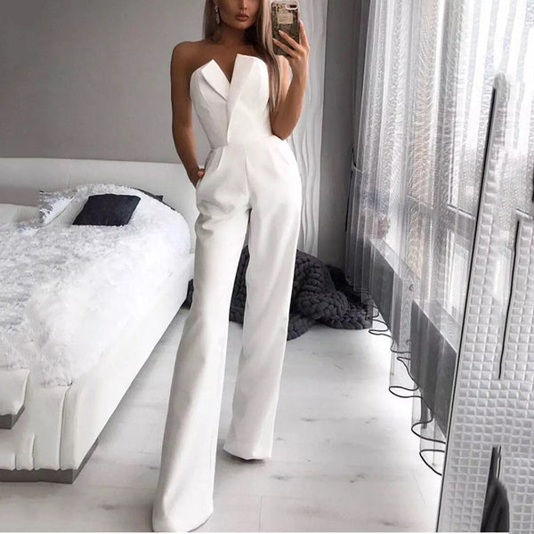 Women's Elegant Simple Solid Color Jumpsuit