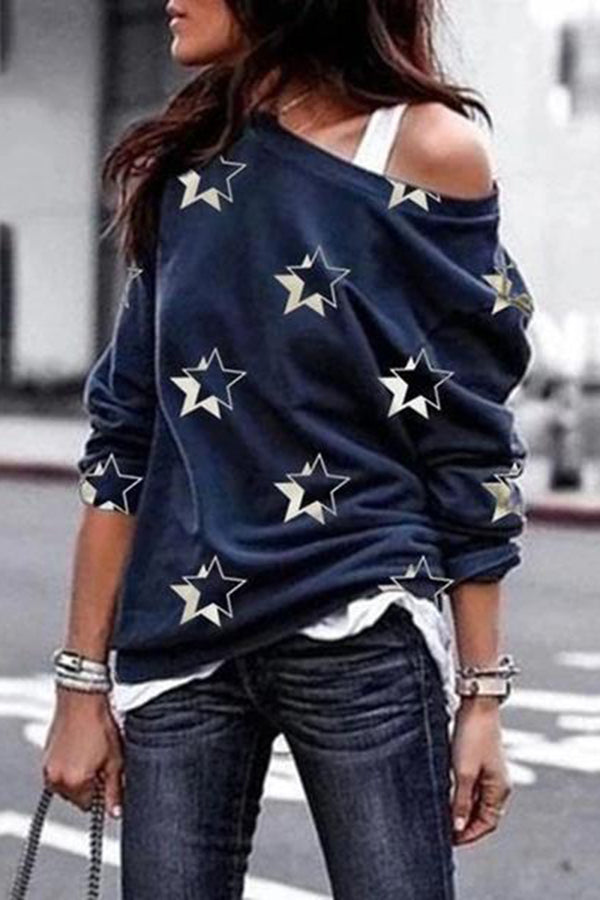 Crew Neck Long Sleeve Casual Shirts Tops