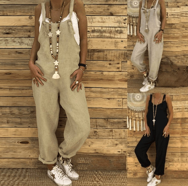 Arealook Women Casual Loose Sexy Wide Leg Baggy Harem Jumpsuit