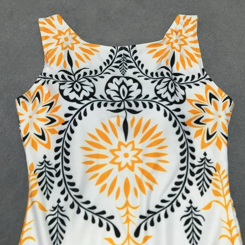 AREALOOK Sexy Bikini Retro Print One-Piece Swimsuit