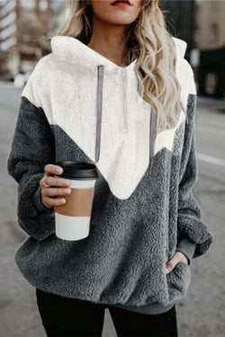 Stitched Loose Long-Sleeved Women's Sweater