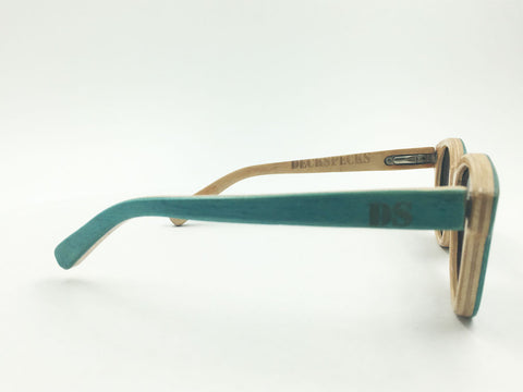 Deck Specks Double Kinks- Green / Wood grain