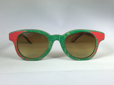 Deck Specks Double Kinks- Green/Graphic/Wood grain