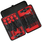 Upgraded 18-in-1 Professional Grooming Kit with Portable Travel Case