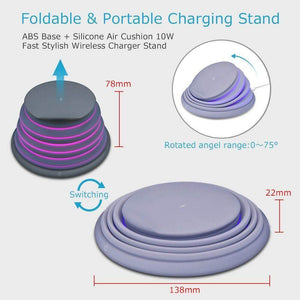 LIMITED TIME OFFER!!!! Collapsible Wireless Fast Charger with Mood Light