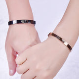 Titanium Steel Couple Bracelet Cross