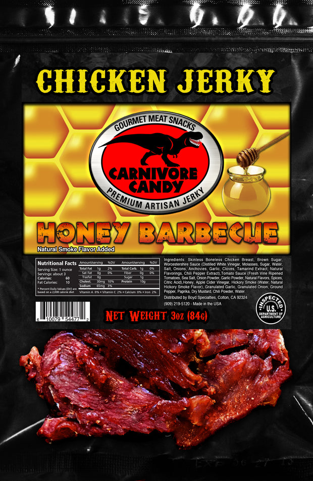 Honey Barbecue Chicken Jerky