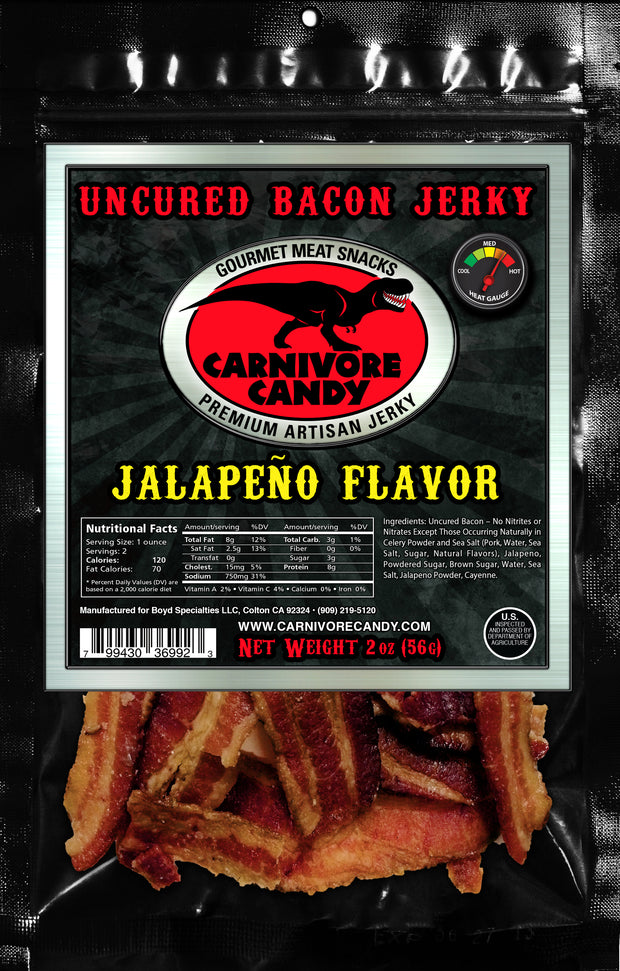 Jalapeno Uncured Bacon Jerky