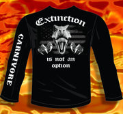 Biker Carnivore Long Sleeve Shirt