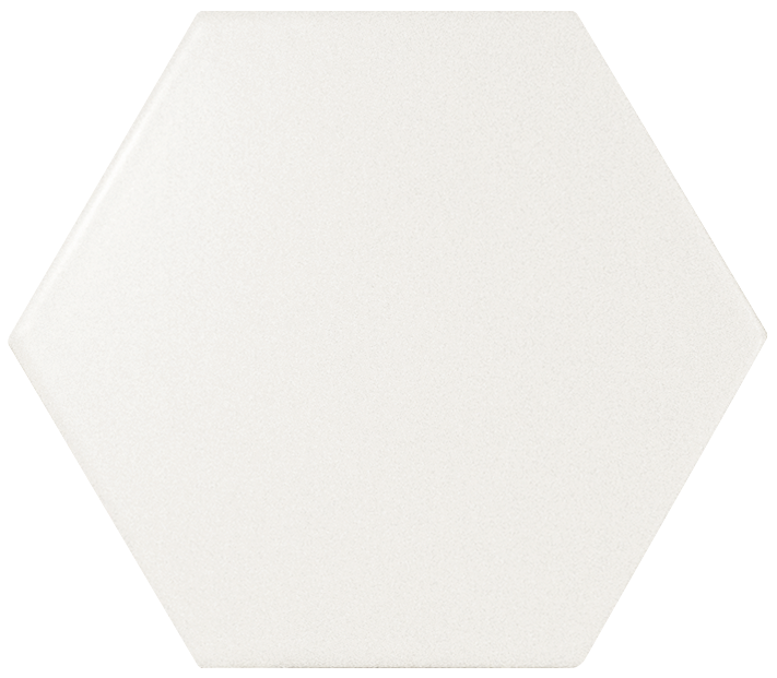 "White Hexagon 5""x4"" Matte - mosaics-4-you"