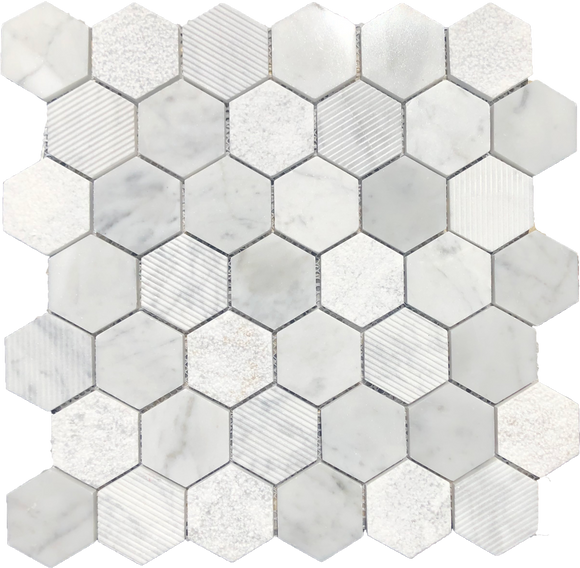 Carrara Hexagon Structured