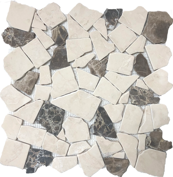 broken tile mosaic floor