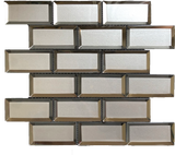 subway glass tile backsplash