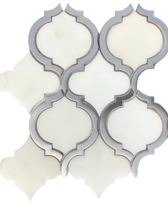 Salamanca White Arabesque Tile