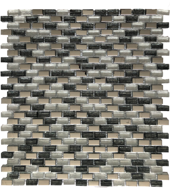 brick tile fireplace