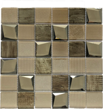 brown square tile