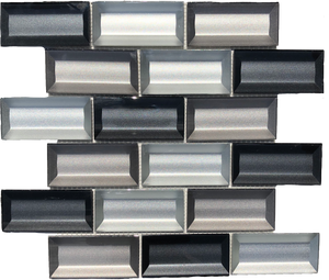 glass brick tile backsplash