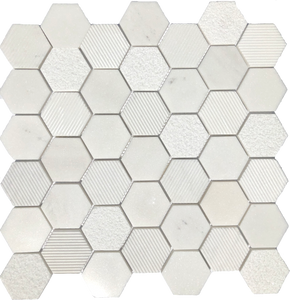 marble hexagon floor tile