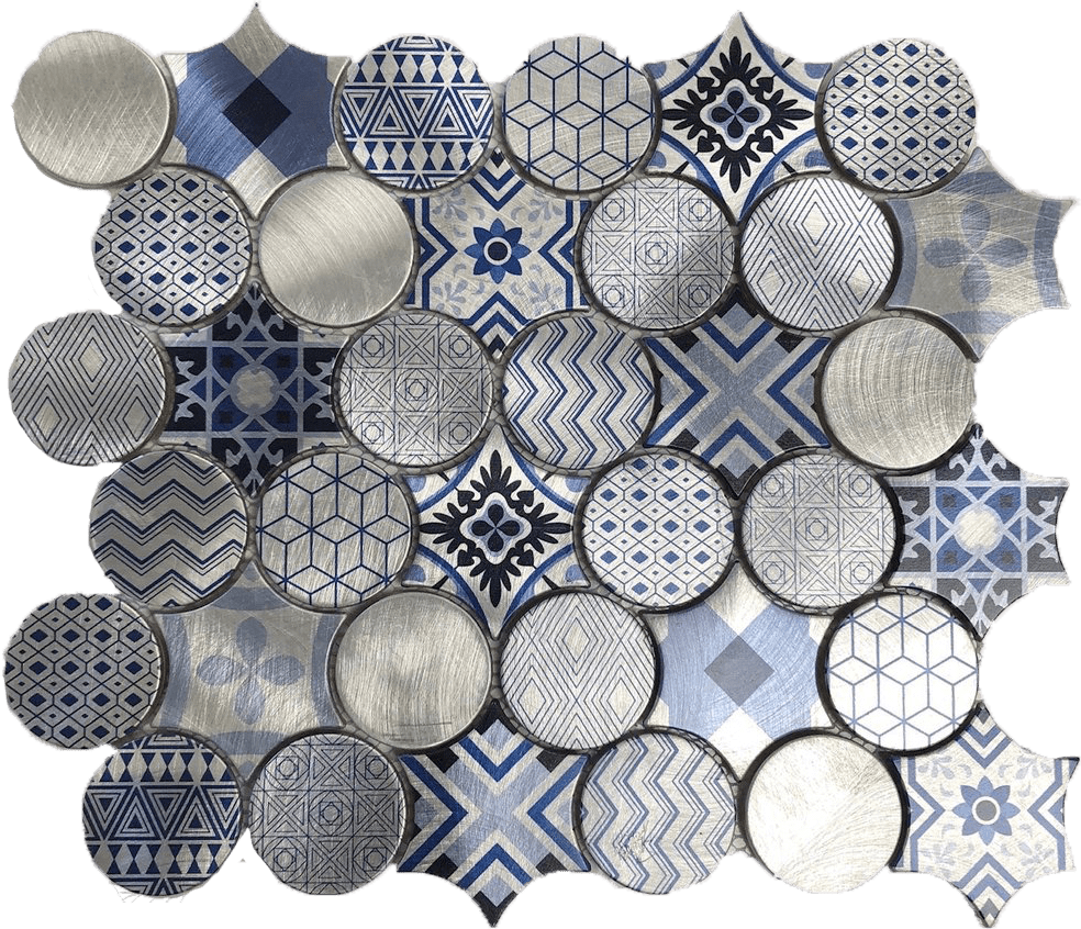 metallic mosaic tile