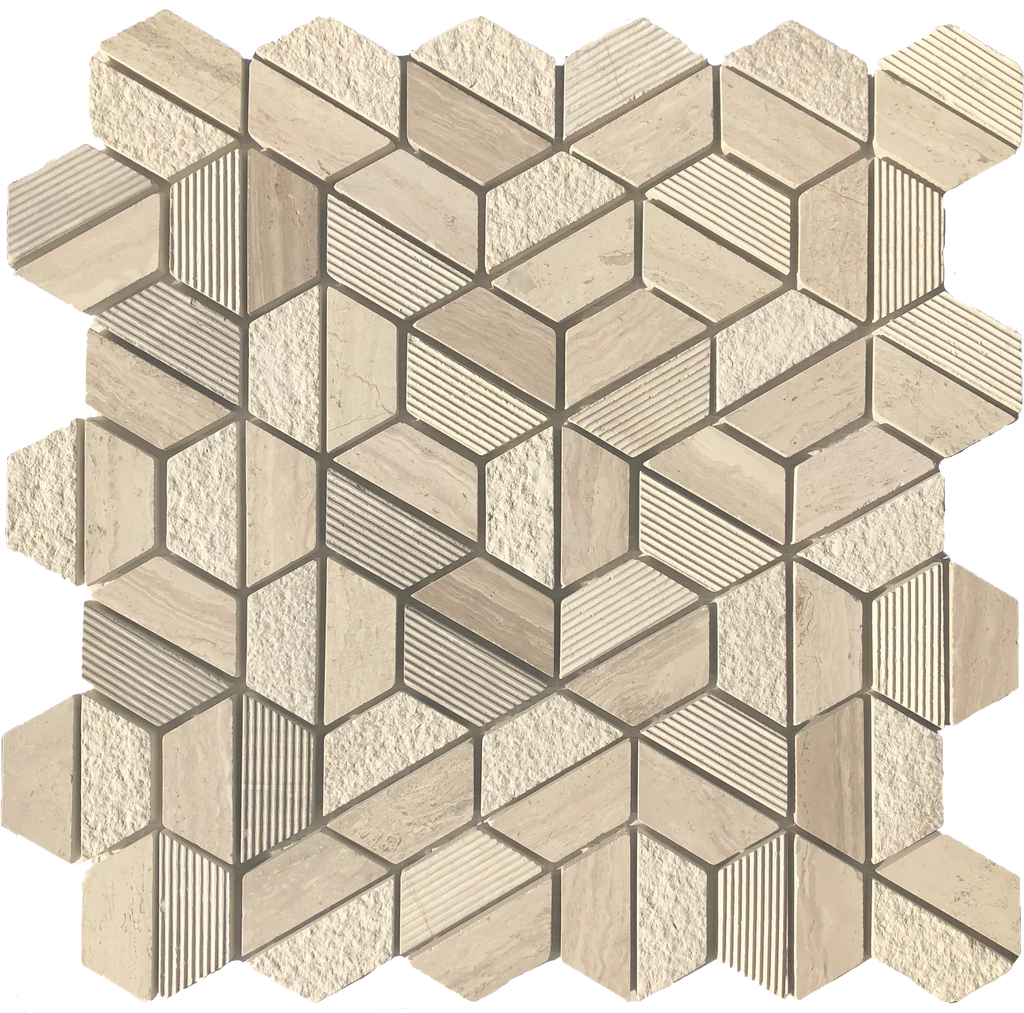 Sassari Ceramic Hexagon Mosaic Tile